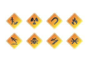 Vettore dell'icona del segnale di pericolo