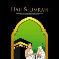 modello di disegno di hajj mabrour e umrah