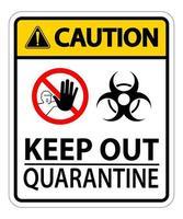 attenzione tenere fuori il segno di quarantena