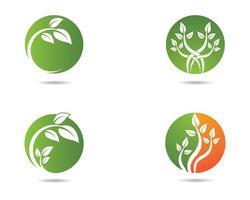 set logo ecologico circolare