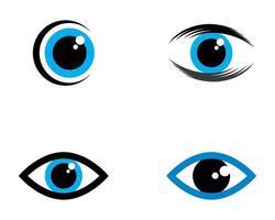 set logo icona bulbo oculare vettore