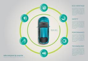 Modello di pagina Web di Prius vettore