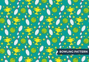 Vettore del modello del vicolo di bowling
