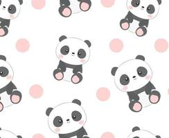 panda senza cuciture vettore