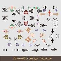 set di angoli ornamentali vettore
