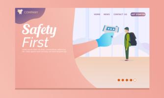 prima pagina di destinazione di sicurezza vettore