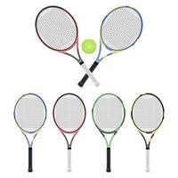racchetta da tennis isolato su sfondo bianco vettore