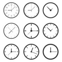 orologio vettoriale isolato su sfondo