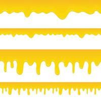 sgocciolatura del miele isolata su fondo bianco vettore