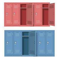 armadietto della scuola isolato su sfondo bianco vettore