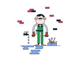 Vettore dell'idraulico