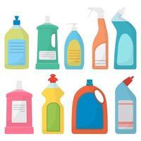 prodotti per la pulizia della casa isolati su sfondo bianco