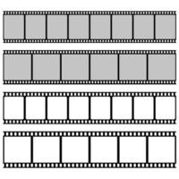 rotolo di pellicola isolato su sfondo bianco