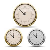 orologio da tasca isolato su sfondo bianco vettore