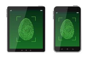 sbloccare la scansione delle impronte digitali vettore