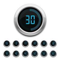 timer digitale isolato su sfondo bianco vettore