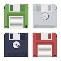 floppy disk isolato su sfondo bianco vettore