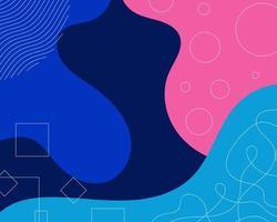 design a forma fluida con motivi lineari vettore
