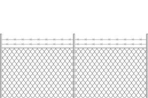 recinzione metallica con filo spinato vettore