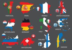 Mappe dell'Europa vettore