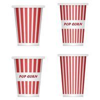 secchi vuoti del popcorn su bianco