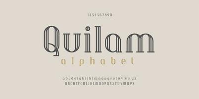 font serif foderato di moda vettore