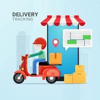 monitoraggio dell'ordine di consegna sul dispositivo mobile