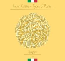 pasta italiana degli spaghetti dell'alimento vettore