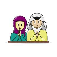 coppia di anziani arabi islamici