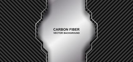 astratto in fibra di carbonio metallo sfondo vettore