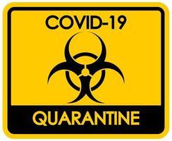 tema di coronavirus con segno di rischio biologico