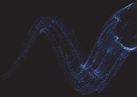sfondo astratto di punti cyber che scorre vettore