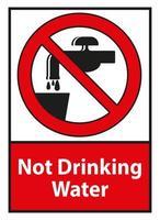 segno di simbolo di acqua non potabile vettore