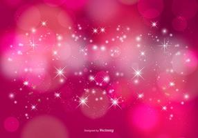 Stardust rosa bokeh e stelle sfondo vettore