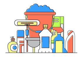 Icone di pulizia gratuite vettore