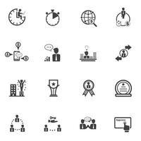 set di icone di uomini d'affari e finanza vettore