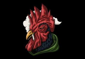 fumo di gallo rosso vettore