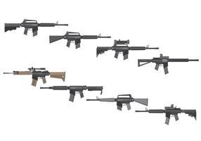 Vettore gratuito di fucili d'assalto