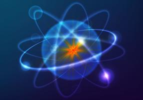 Sfondo vettoriale di atomium