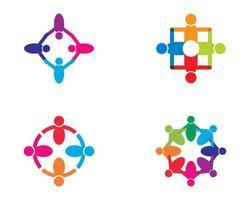coloful comunità icona logo design