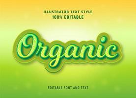 testo etditable del modello organico di spruzzatura verde