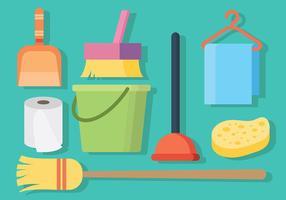 Pulire e pulire icone vettoriali gratis