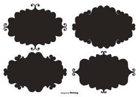 doodle cornici di etichette vettoriali