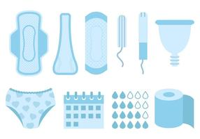 Vettore di prodotti per l'igiene femminile gratuito