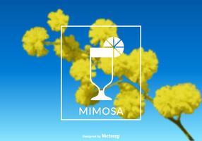 Etichetta vettoriale Mimosa