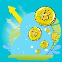bitcoin per contenuti aziendali vettore
