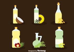 Vettore della raccolta dell'olio di erbe