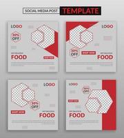modello di social media ristorante vettore
