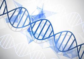 sfondo medico con filamenti di DNA astratto vettore