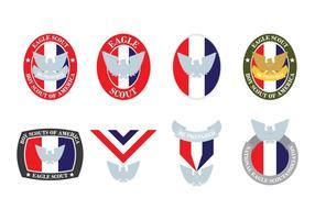 Distintivi di Eagle Scout vettore